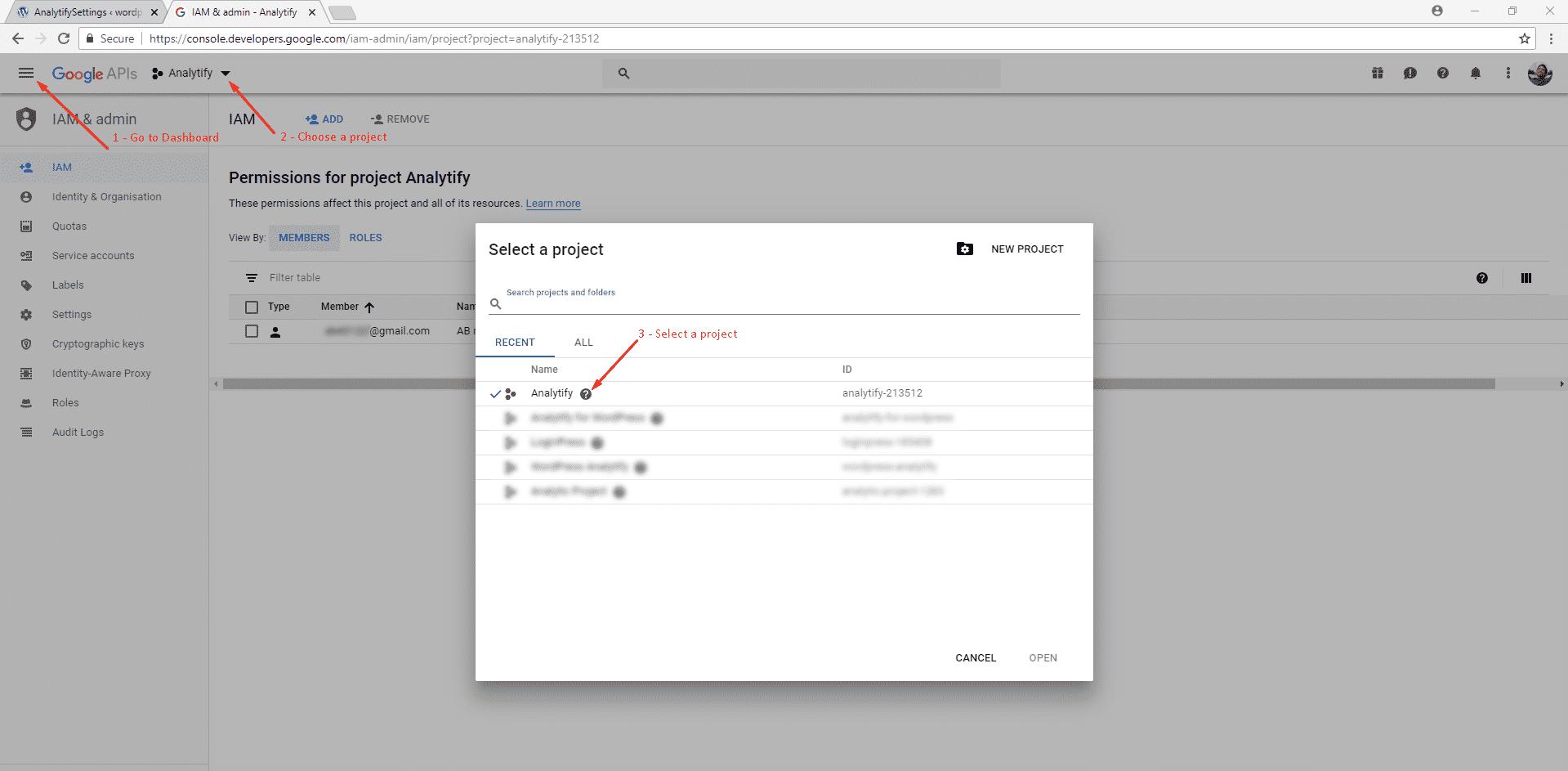 Get Client ID, Client Secret and Developer API Key for Google