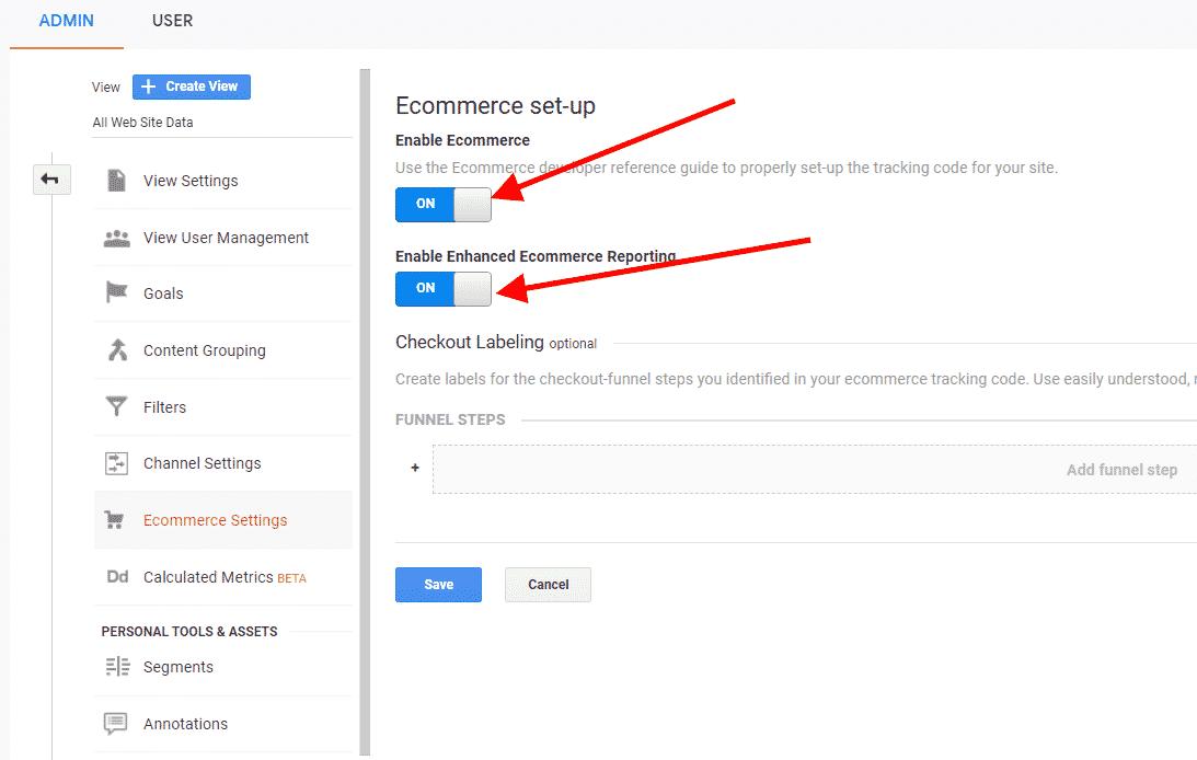 Google Analytics eCommerce Tracking, Setup ecommerce Tracking Google Analytics