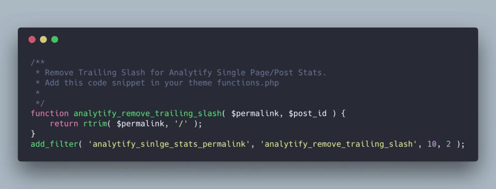 Remove trailing slash from Google Analytics