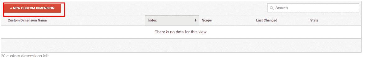setup custom dimensions in Google Analytics