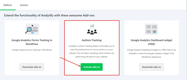 Authors Addon