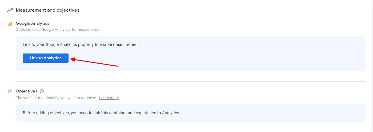 Google Optimize Integration with Google Analytics